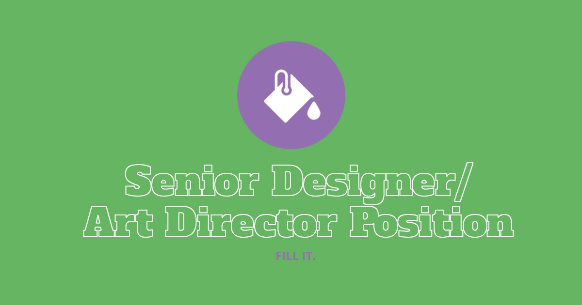 We're Hiring: Art Director
